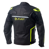 Eleveit Rc Pro Leather Jacket Black Yellow