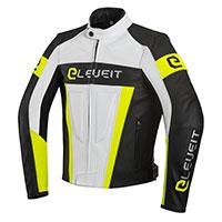 Eleveit Sp 01 Leather Jacket White Yellow