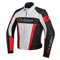 Giacca Pelle Eleveit Sp 01 Bianco Rosso