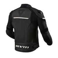Rev'it Convex Leather Jacket Black White