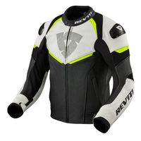 Rev'it Convex Leather Jacket Black Yellow