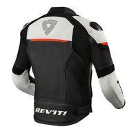 Rev'it Convex Leather Jacket Black Red