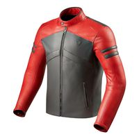 Rev'it Prometheus Lether Jacket Red Grey