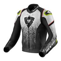 Rev'it Quantum Leather Jacket Black White