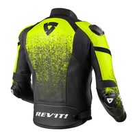 Rev'it Quantum Leather Jacket Black Yellow