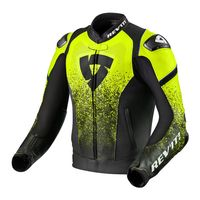 Rev'it Quantum Air Leather Jacket Black Yellow