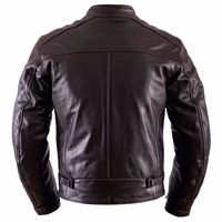 Helstons Ace Fender Leather Jacket Brown