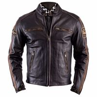 Helstons Ace Oldies Leather Jacket Brown