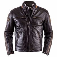 Helstons Ace Rag Leather Jacket Brown