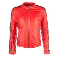 Helstons Angel Rag Ladies Jacket Red Black