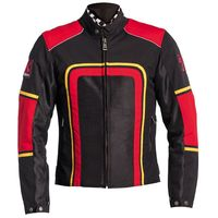 Helstons Austin Jacket Black Red Yellow