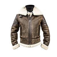 Helstons Bombardier Huricane Leather Jacket Brown