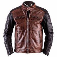 Helstons Cruiser Leather Jacket Camel-black
