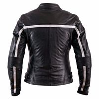 Helstons Daytona Rag Ladies Jacket Black White