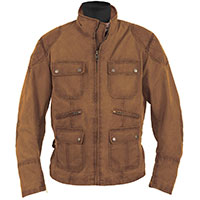 Helstons Hunt Coton Britwax Leather Jacket Brown
