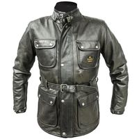 Helstons Hunter Leather Jacket Military Green