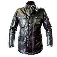 Helstons Hunter Leather Jacket Black