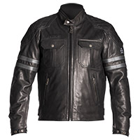 Helstons Jersey Natural Leather Jacket Black Grey