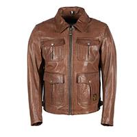 Helstons Joey Rag Leather Jacket Tan