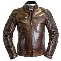 Helstons Modelo Leather Jacket Camel-black