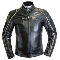 Helstons Modelo Leather Jacket Black Beige