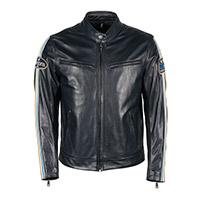 Helstons Race Rag Leather Jacket Blue