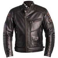 Giacca In Pelle Helstons Ridley Dirty Marrone