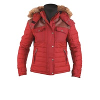 Helstons Stuff Ladies Jacket Red