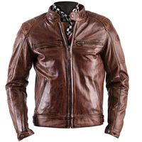 Helstons Track Rag Leather Jacket Camel