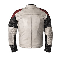 Helstons Tracker Leather Jacket White Black Red
