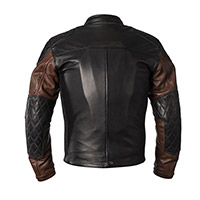 Helstons Tracker Leather Jacket Black Camel