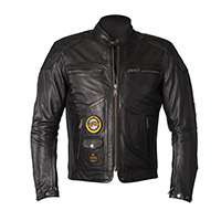 Helstons Tracker Leather Jacket Black