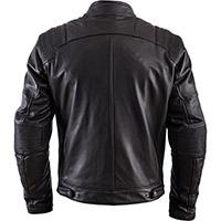 Helstons Trust Plain Leather Jacket Black