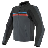 Dainese Hf 3 Perforated Leather Jacket Black Red Blue
