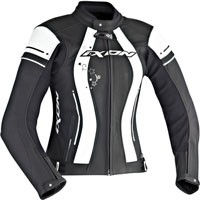 Ixon Alcyone Lady Leather Jacket Black White