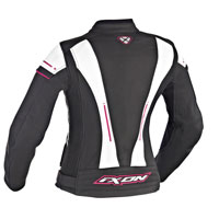 Ixon Alcyone Lady Leather Jacket Black White Fuchsia