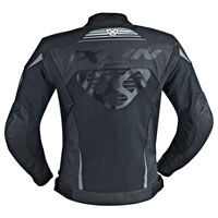 Ixon Frantic Leather Jacket Black White