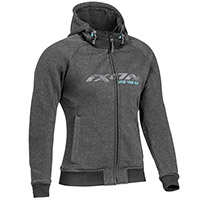 Ixon Palermo Hoodie Anthracite Turquoise Lady