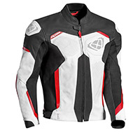 Ixon Rhino Leather Jacket White Black Red