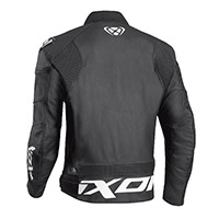 Ixon Sparrow Leather Jacket Black White