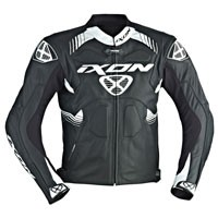Ixon Voltage Leather Jacket Black White