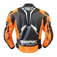 Berik Perforated Leather Jacket New 2021 Ktm Orange