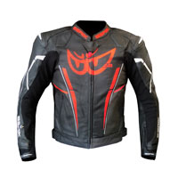 Berik Perforated Leather Jacket New 2021 Print Red