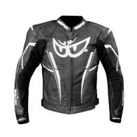 Berik Perforated Leather Jacket New 2021 Print White