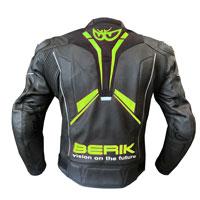 Berik Perforated Leather Jacket New 2021 Print Yellow