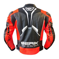 Berik Perforated Leather Jacket New 2021 Red Fluo