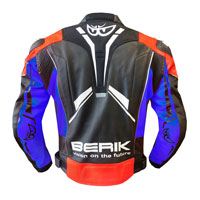 Berik Perforated Leather Jacket New 2021 Red Blue Fluo