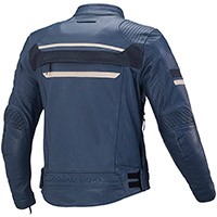 Macna Rendum Leather Jacket Blue