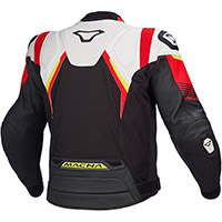 Macna Ripper Leather Jacket White Black Red