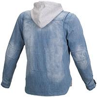 Sweat à Capuche Macna Westcoast Bleu Clair Gris